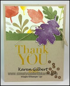 Fall Thank You by kaygee47 - Cards and Paper Crafts at Splitcoaststampers