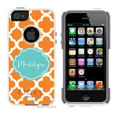 | *NEW iPhone 5 Monogram Otterbox | Monogrammed Otterbox® Iphone 5 Case Quatrefoil | Lipstick Shades