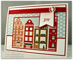 Make Your Own Christmas Cards With Stampin' Up! - blog.Stamp4Joy.com - SU - Bright & Beautiful, Nordic Noel DSP