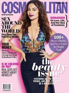 Sonakshi Sinha looks breathtakingly hot in the November issue of  Cosmopolitan. On the cover e289fae90