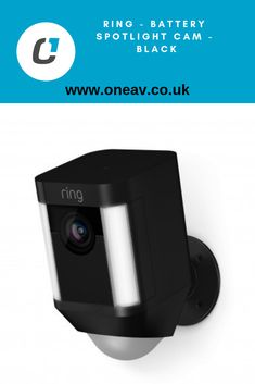 Battery-powered HD camera with two-way talk and spotlights, for security anywhere you need it. Hd Security Camera, Spotlights, Black Rings