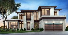 House Plan 75977 | Contemporary Florida Modern Plan with 3730 Sq. Ft., 3 Bedrooms, 4 Bathrooms, 3 Car Garage