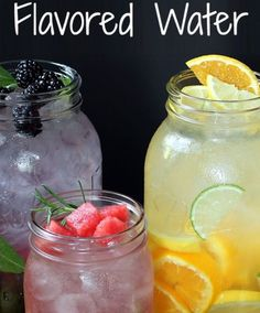 Yummy homemade flavored water