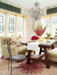 I love this Garden fresh sunroom!