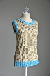 Ravelry: Netted Tank pattern by Universal Yarn