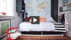 Functional Boy's Bedroom: Designer Cameron MacNeil and H style editor Stacey Smithers reveal easy ways to transform a guest room into a big boy's bedroom and a small nursery into a cosy den | House & Home Online TV