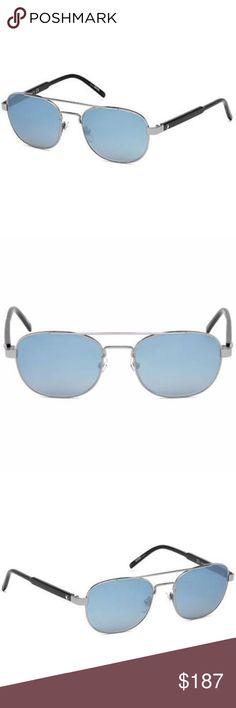 a73f6fb2b1 Mont blanc Pilot Style Blue Mirrored Lens Mont blanc Men s Pilot Style  Sunglasses Having Gunmetal Frame