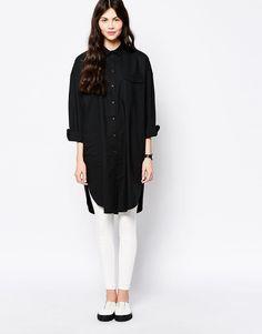 Image 4 ofMonki Longline Shirt Dress