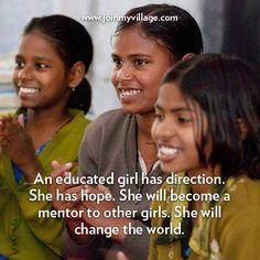 An educated girl has