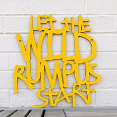 Let the Wild Rumpus Start LARGE  (Maurice Sendak, Where the Wild Things Are). $75.00, via Etsy.