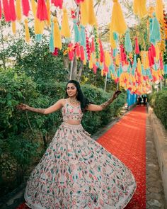 Multicolored Lehengas For Summer Weddings. Indian Designer Outfits, Designer Dresses, Indian Dresses, Indian Outfits, Mehndi Outfit, Crystal Embroidery, Red Lehenga, Saree Blouse Patterns, Cute Girl Photo
