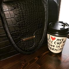 I  LOVE MY FIRST CUP OF COFFEE IN THE MORNING #mondaymorning #monday #coffeeaddict #coffeetime #caffelatte #tremilacosedafare #americanmood #takeawaycoffee #laquila #italy #bag #mood #black #inlove #buongiorno #goodmorning #breakFAST by faniadg