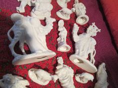 Beautiful ATLANTIC Bisque NATIVITY set  19 by ourlittlefarm0309, $114.00  or this one