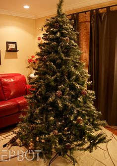 Diy Fake Snow Out Of Lightweight Drywall Kle Flocked Artificial Christmas Trees