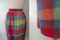 Cider Mill Skirt // Vintage Gingham Pocket by KittyHawVintage, $22.00