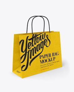 Wide Paper Bag / Half Side View Mockup in Bag & Sack Mockups on Yellow Images Object Mockups Bag Mockup, Phone Mockup, Shopping Bag Design, Paper Bag Design, Sack Bag, Bottle Mockup, Print Packaging, Side View, Marketing