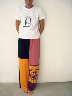 recycled t shirt crafts | Cotton T Shirt Pants for Him Her / Recycled / L XL / by ... | Crafts