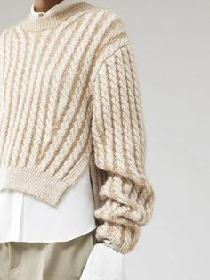 Knit Sweater Outfit, Sweater Shop, Cable Knit Sweaters, Cropped Knit Sweater, Knitwear Fashion, Knit Fashion, Womens Knitwear, Lana, Sweaters For Women