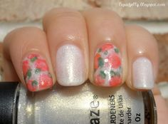 Liquid Jelly: Faded Florals #nails