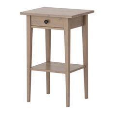 HEMNES Nightstand - gray-brown - IKEA