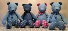 Win an Adorable Handcrafted Cassandra Taylor Teddybear - Win a Handcrafted and Designed Teddybear from Cassandra Taylor Diy Crochet Rag Rug, Diy Step By Step, Jean Crafts, Bear Design, Old Jeans, Old T Shirts, Fabric Scraps, Scrap Fabric, Cool Rugs