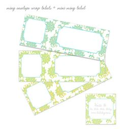 ming envelope wrap labels download by LoveMissB, via Flickr