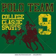 College Polo Player Vector Art - 151126763 : Shutterstock