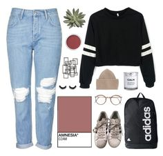 """""""bet you've never seen a wreck like this --"""" by aesthetic-alien ❤ liked on Polyvore featuring H&M, STELLA McCARTNEY, Bare Escentuals, Topshop, Palecek and adidas"""