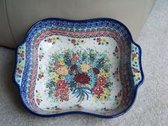 Polish Pottery Boleslawiec Bowl Wavy Unikat Stoneware | eBay