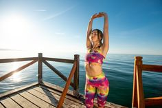As Captivating As A Caribbean Sunset, Tikiboo's Tikitropics Full-length Pants Feature A Blend Of Warm Colours And Palm Leaves. Treat Your Legs To These Silky Tropical Tights! Warm Colours, Tights, Leggings, Keep Your Cool, Caribbean, Bikinis, Swimwear, Palm, Tropical