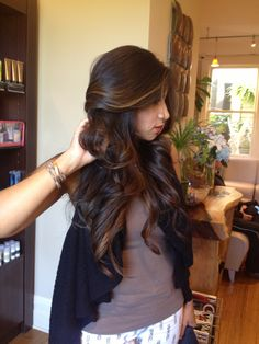 Beautiful Brunette Balayage by Kristin Gore  @ Berenice Salon
