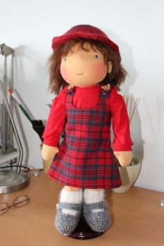 SPECIAL PRICE   Waldorf doll 16  ERIKA  brown  by Dearlittledoll ♡