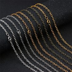 Linsoir Beads Metal Iron Round Cross O Chain 3mm Link Necklace Chain with Lobster Clasp Antique Bronze Tone 24 inch//pc 10 pcs//lot