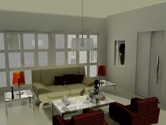 Sala 3d Max com V-ray