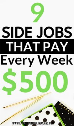 Job Discover 28 Work At Home Jobs That Pay Weekly Want to earn money weekly in the year No problem. Here is a list of 28 work at home jobs that pay on a weekly basis. You dont have to wait a whole month to receive your paycheck! Easy Online Jobs, Online Jobs From Home, Cash From Home, Earn Money From Home, Online Side Jobs, Money Fast, Work From Home Careers, Work From Home Companies, Work From Home Opportunities