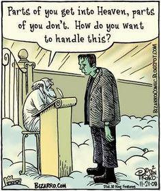 Frankenstein and Saint Peter #Catholic #CatholicHumor