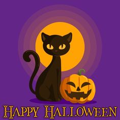 Halloween background with black cat Free. Halloween Friday The 13th, Fröhliches Halloween, Halloween Clipart, Adobe Illustrator, Halloween Backgrounds, 5d Diamond Painting, Vector Photo, Avatar, Vector Free