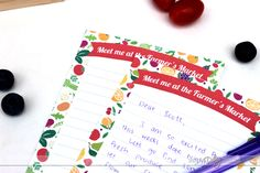 Farmer's Market Love Notes for a fun date night outside!