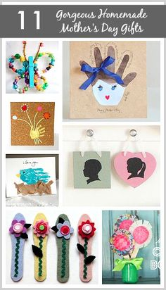 11 Gorgeous Homemade Mother's Day Gifts for Kids to Give Mom! (Handprint ideas, cards, silhouettes, and more!)
