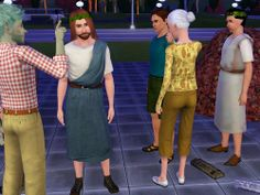 Jesus came to someone's Sims party, and oh look! Peter's there to!! Jesus's followers must be really faithful. :} A bit of Christian Sims humor...