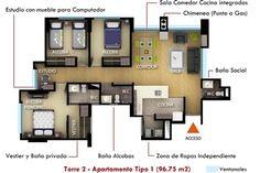 Imagenes de Apartamento Tipo 1 (96,75m2) - Torre #2
