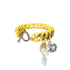Lydell NYC Woven Bracelet with Charms from LittleBlackBag.com