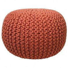Coral Gumball Pouf