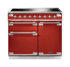 Buy The Rangemaster Elise 100 Induction Cherry Red Range Cooker 100220 From CookersAndOvens At A Fantastic Price. Stoves Range Cooker, Induction Range Cooker, Electric Range Cookers, Dual Fuel Range Cookers, Domestic Appliances, New Flavour, Cherry Red, Gourmet