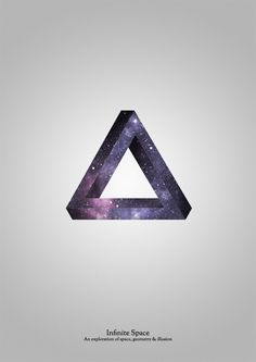 Infinite space in a Penrose Triangle.