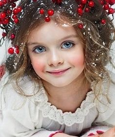 Lovely young snow maiden
