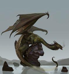 Dragon by Adrian-W.deviantart.com on @DeviantArt
