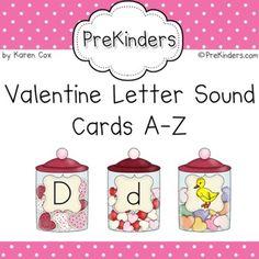 Winter Penguins Letter Sound Cards AZ