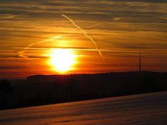 Napnyugta, Sun, Ég, Felhők, Hó
