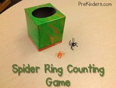 Spider ring game with printable